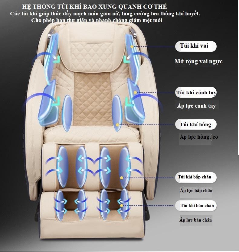 Ghế Massage Toàn Thân KS 869 túi khí toàn thân