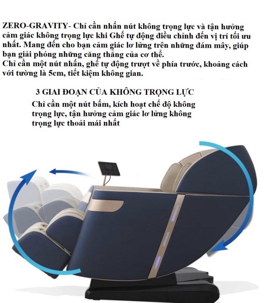 zero gravity Ghế Massage toàn thân Luxury 4D KS 33