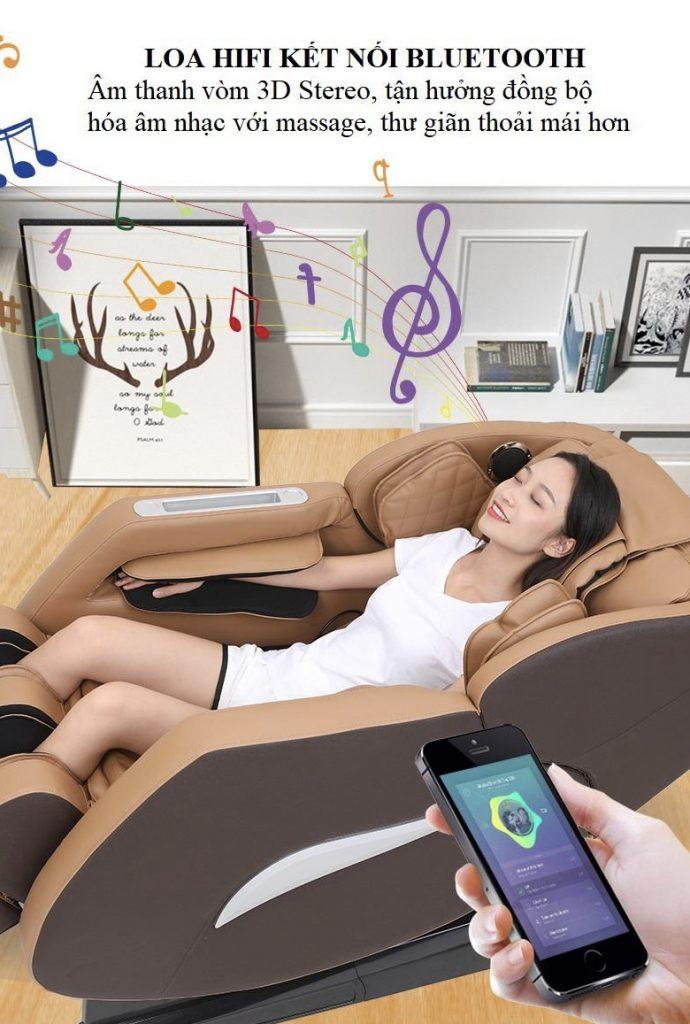 loa hifi kết nối bluetooth của Ghế Massage Toàn Thân KS818
