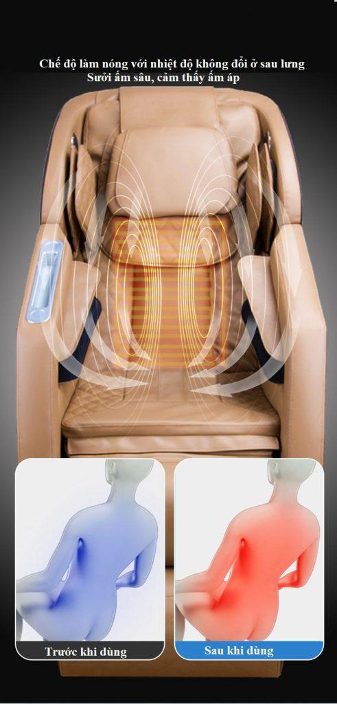 chế độ nhiệt hồng ngoại Ghế Massage Toàn Thân KS818