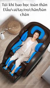túi khí toàn thân của ghế massage toàn thân luxury 4D KS 828